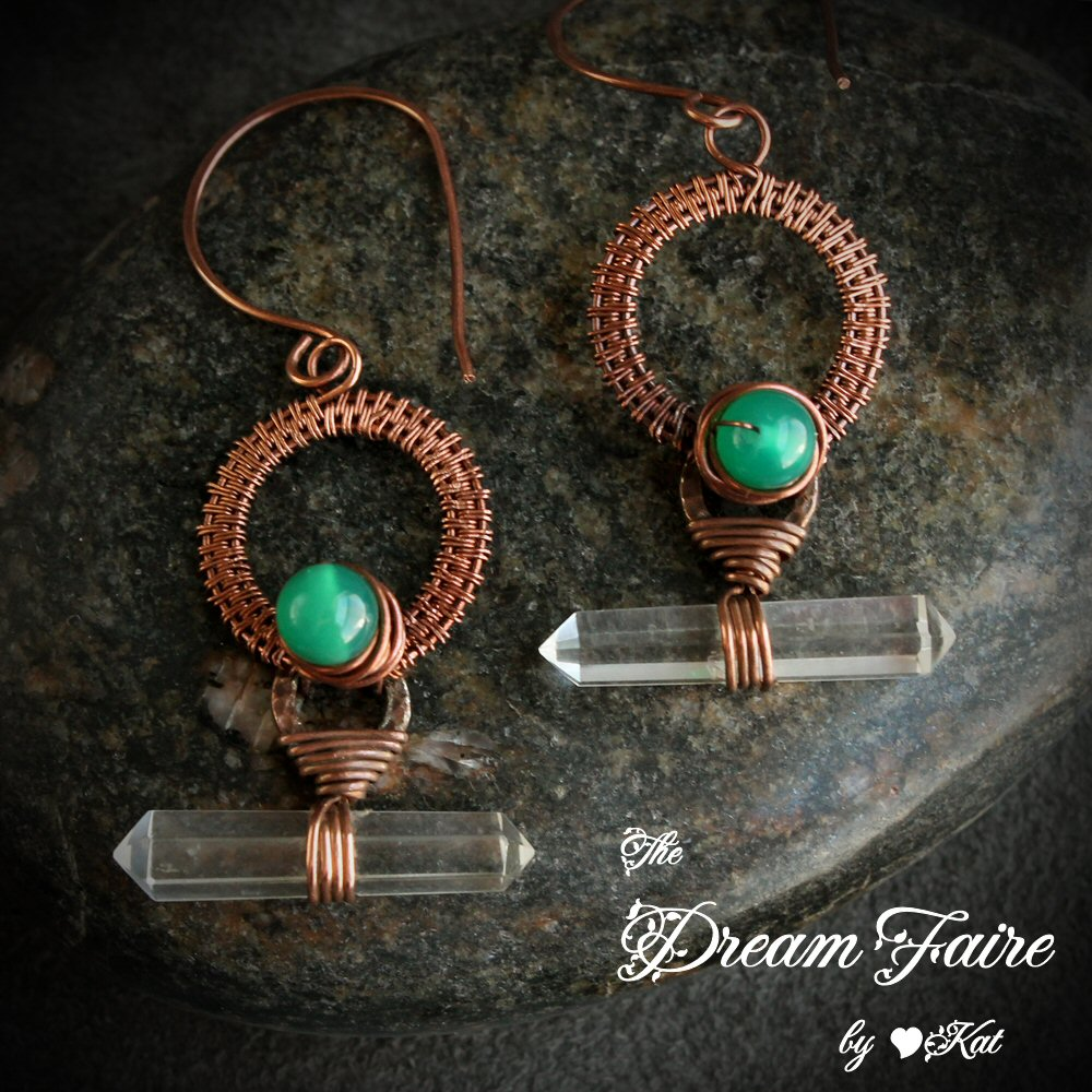 The Dream Faire · Mystical Energy - Quartz, Agate and Copper Wire ...
