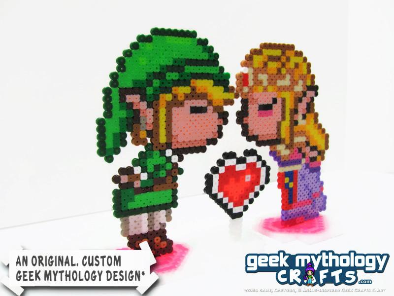 Link And Zelda Kissing Gamer Wedding Cake Topper