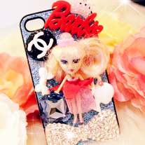 New Bling Crystal Sparkle Barbie Doll iPhone 4/4S Case #1
