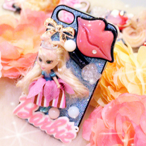 New Bling Crystal Sparkle Barbie Doll iPhone 4/4S Case #4