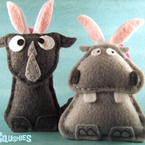 Felt Animal Easter Ornament Set - Beauregard and Reginald