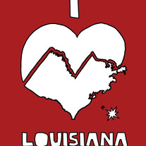 Louisiana love, 5x7 print