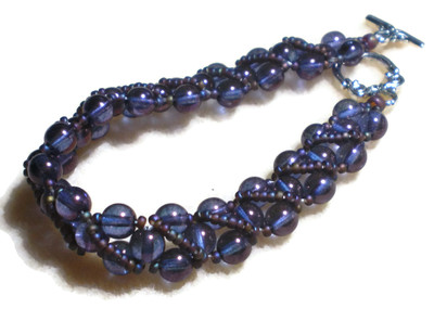 Radiant Purple Bracelet, luxuriously long
