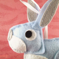 Easter Animal Felt Ornament - Gretchen the Bunny