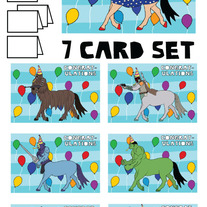 Centaurs Congrats 7 card set