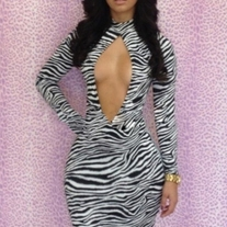 """Animal Instinct"" Celeb Style Bodycon Dress"