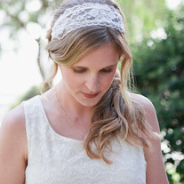 Something borrowed... Wide lace veil or bridal / wedding headband