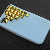 White Studded iPhone 4/4s Case