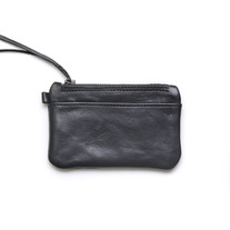 Parfleche Zip Wallet / Black Leather
