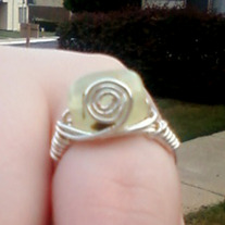 Prehinite Spiral Ring size 8
