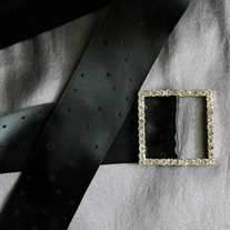 Bridal Sash with Rhinestone Buckle  - Thumbnail 3