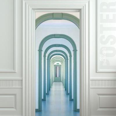 Wall Door STICKER entry interior corridor passage city entrance mural  decole film self-adhesive poster 30x79
