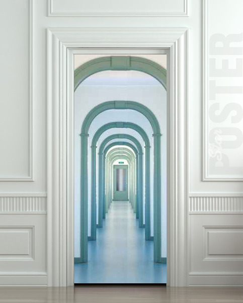 Wall Door Sticker Entry Interior Corridor Passage City