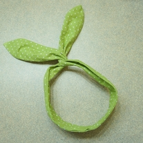 Apple Green Polka Dot Bunny Headband (RESTOCKED)