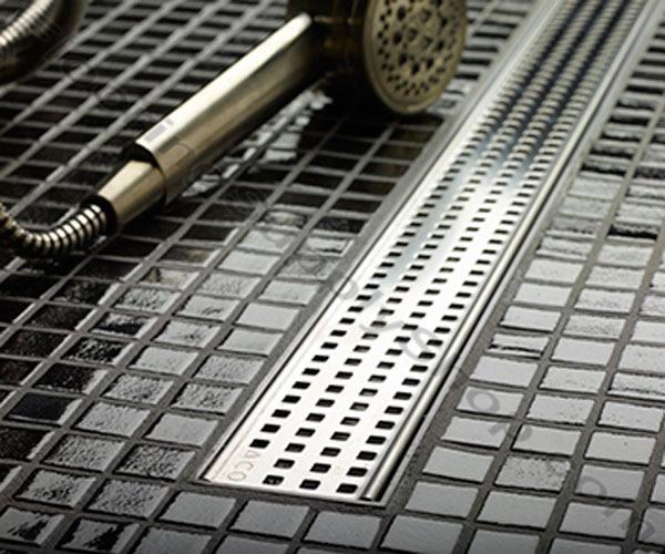 quartz plus 36 square linear shower drain