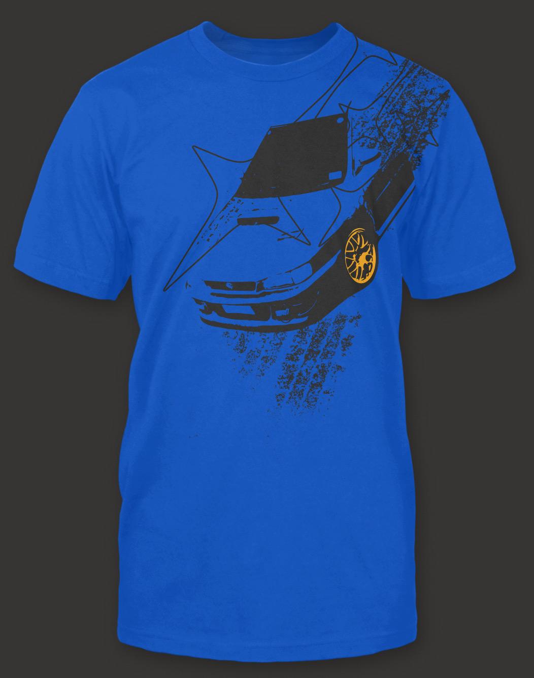 Subaru Impreza 22b Shirt Blue 183 Gearheart Shirts