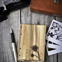 Dandelion Letterpressed Wooden Notebook/Journal