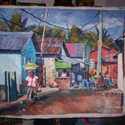 Batey in the dominican republic painting by wendy
