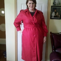London Fog Red Long Coat Sz 14P