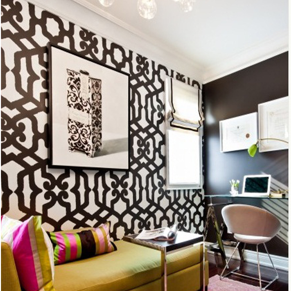 ... Moroccan Modern 3 Designer Pattern Stencil for Walls Decor better than