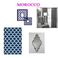 Beautiful Quatrefoil Moroccan Wall inspired Modern Designer Pattern Stencil for Walls Decor better than Vinyl - Thumbnail 2