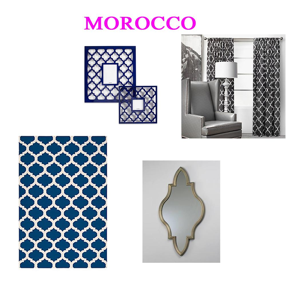 Modern stencil designs for walls