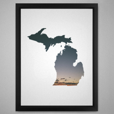 Michigan sunset print