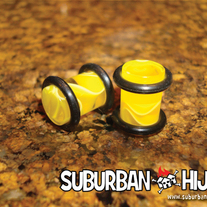 Yellow UV Marble Plug