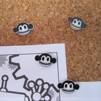 Macabre Push Pins Set of 4