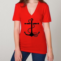 Navy Red-LARGE