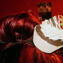 Strawberry Cupcake Headband - Vanilla