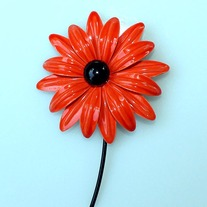 Vintage Brooch Pin - Sassy Black-Eyed Susan