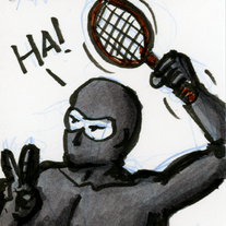 Sketch Card: Tennis Ninja