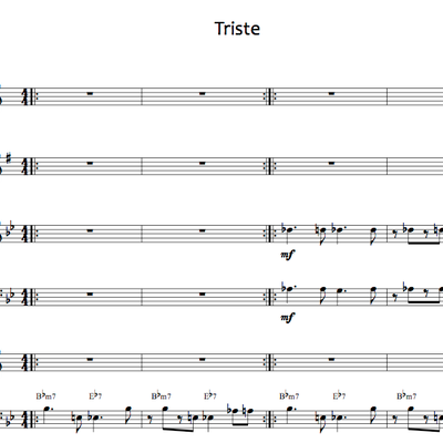 Triste - octet arrangement (january '14)