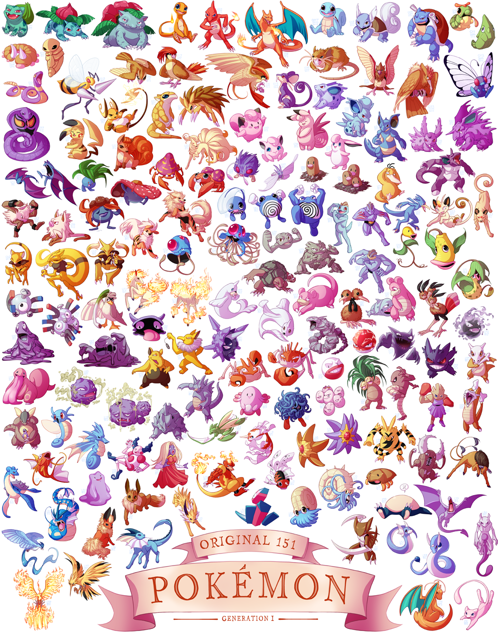 generation i pokemon print