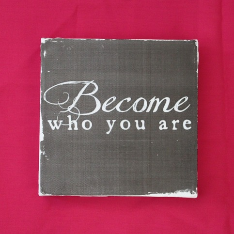 Subway Art Wall Hanging Canvas - Become Who You Are