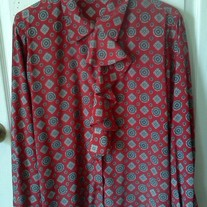 Alfred Dunner Red Blouse Sz 14