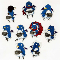 Mini Magnets - Disgaea Prinnies Magnets (Fanart)