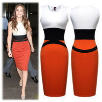 Sparkle Celeb High Waisted Style Pencil Dress