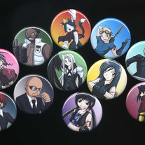 Buttons - Final Fantasy VII: Advent Children Character Buttons (Fanart)