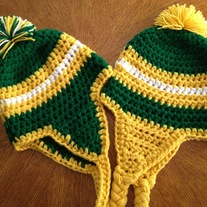 Crochet Packers Hat