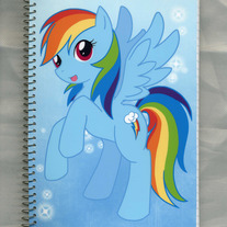 Notebook M - My Little Pony FiM: Rainbowdash (Fanart)