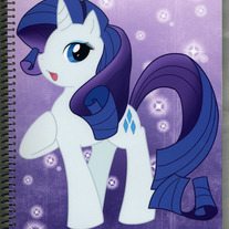 Notebook L - My Little Pony FiM: Rarity (Fanart)