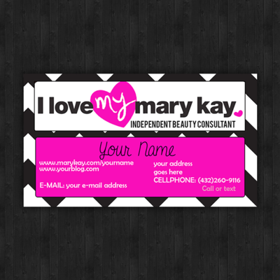 Chevron print marykay business cards - set of 100