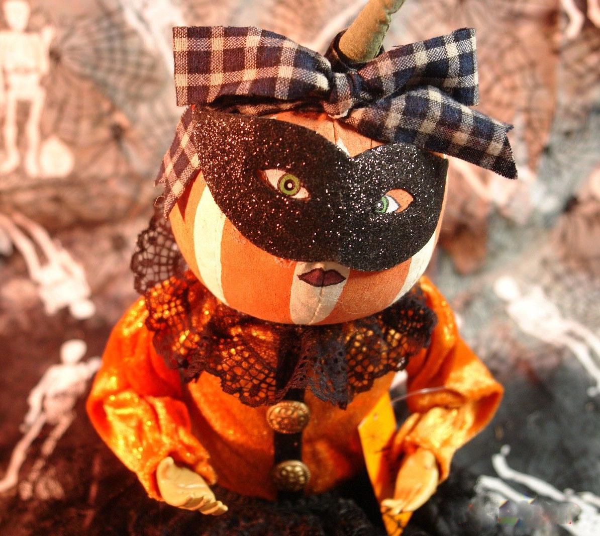 masquerade pumpkin gal doll primitive halloween