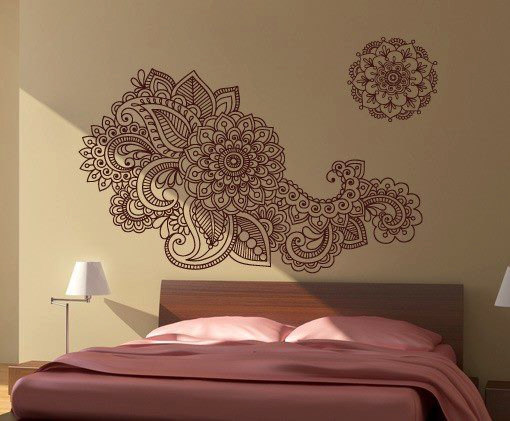 Henna Stencil Decal Oriental Wall Decor
