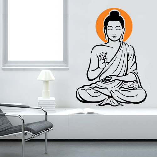 Vinyl Wall Decal Oriental Buddha Zen Sticker