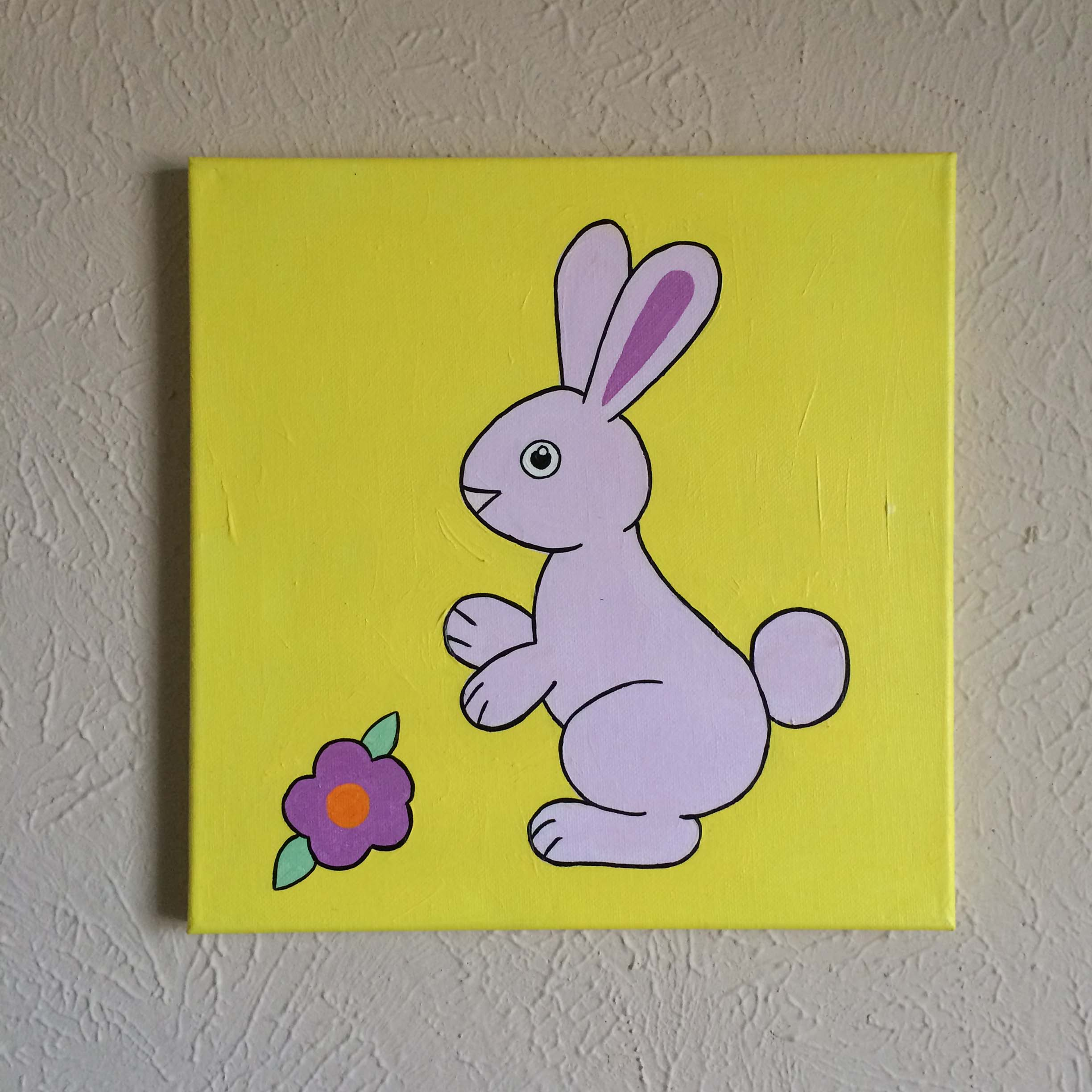 Original hand made bunny rabbit nursery wall art, 12\