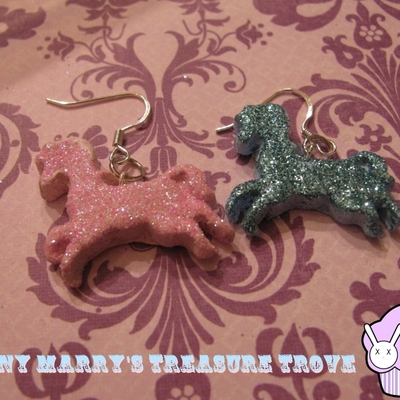 Mix and match sparkle pony earrings