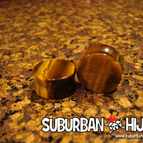 Tiger's Eye Saddle Plug (Semi Precious Stone)